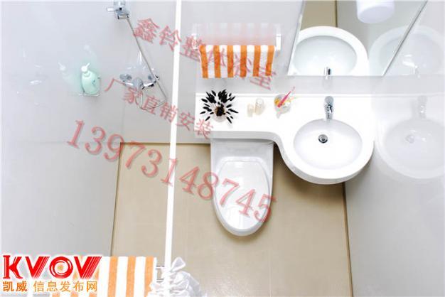 天津整体淋浴室 格瑞特整体卫生间   鑫铃整体浴室能够干高清图片